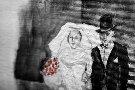 Żydowski ślub w Breslau. (Z wystawy w synagodze Pod Białym Bocianem /fot. Diego Fornero)