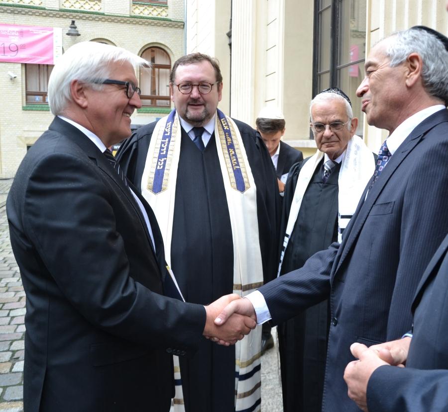 Aleksander Gleichgewicht wita dr Franka-Waltera Steinmeira, Ministra Spraw Zagranicznych Republiki Federalnej Niemiec