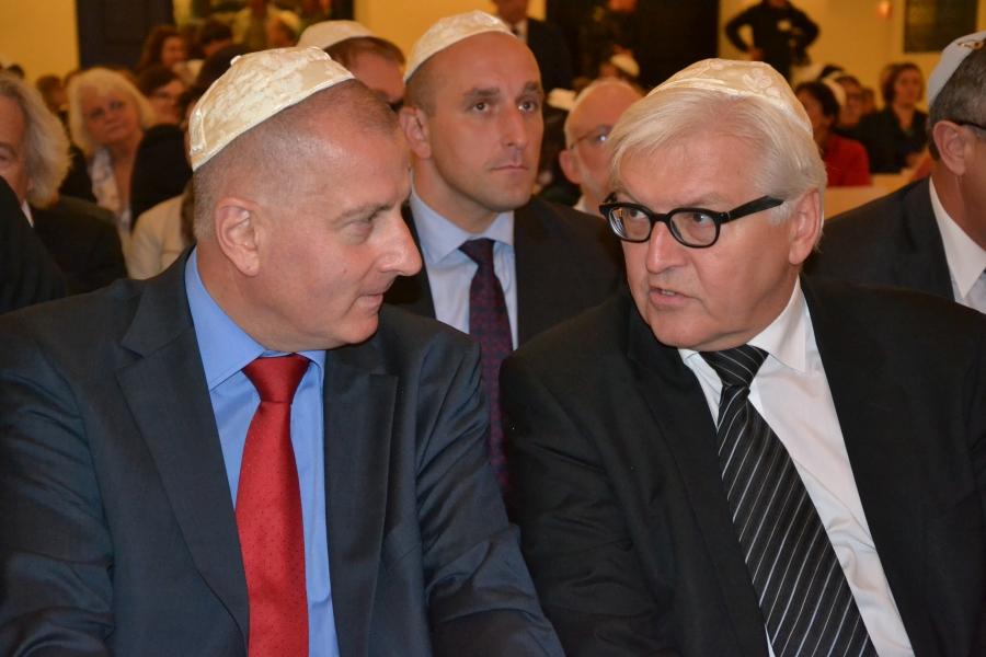 Prezydent Rafał Dutkiewicz i Minister Steinmeir