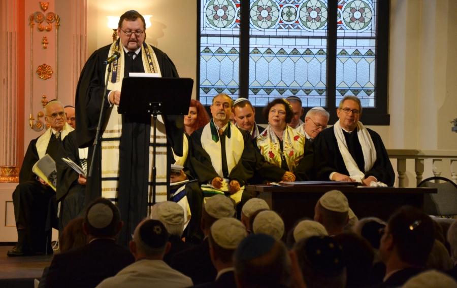 Przemówienie rabina Waltera Homolki, rektora Kolegium