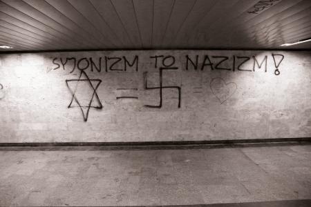 Antyizraelskie napisy w Warszawie /fot. Chidusz 2014
