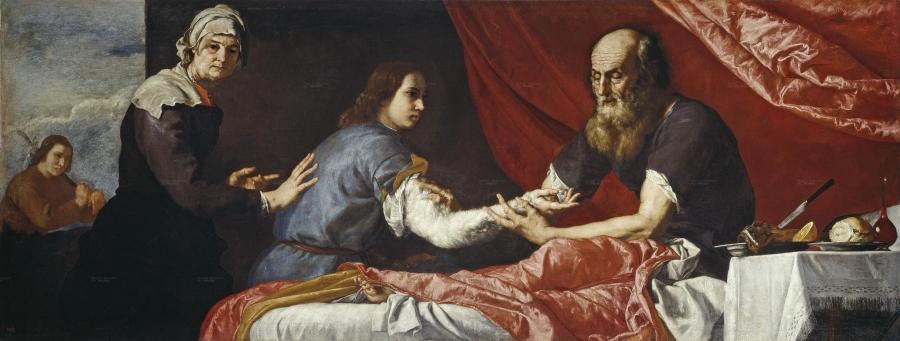 Icchak błogosławi Jaakowi (autor:  Giuseppe Ribera) / Wikipedia