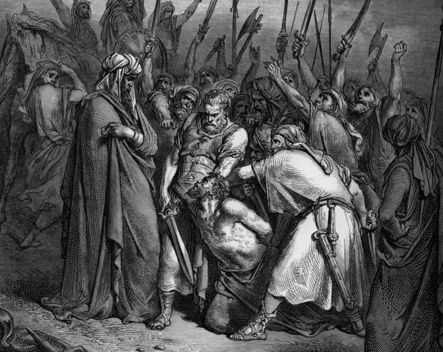"Gustave Dore, ""Śmierć Agaga"" /fot. Wikipedia"