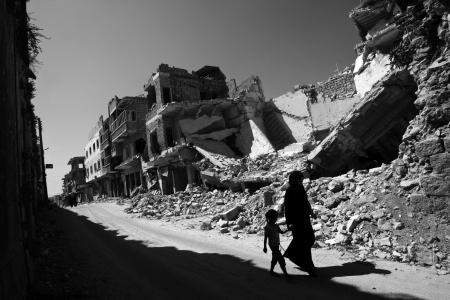 GRUZY W MIEŚCIE MAARAT AL-NUMAAN Fot. UNICEF /