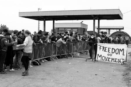 Kryzys migracyjny. Granica serbsko - chorwacka. Fot. Justyna Chmielewska