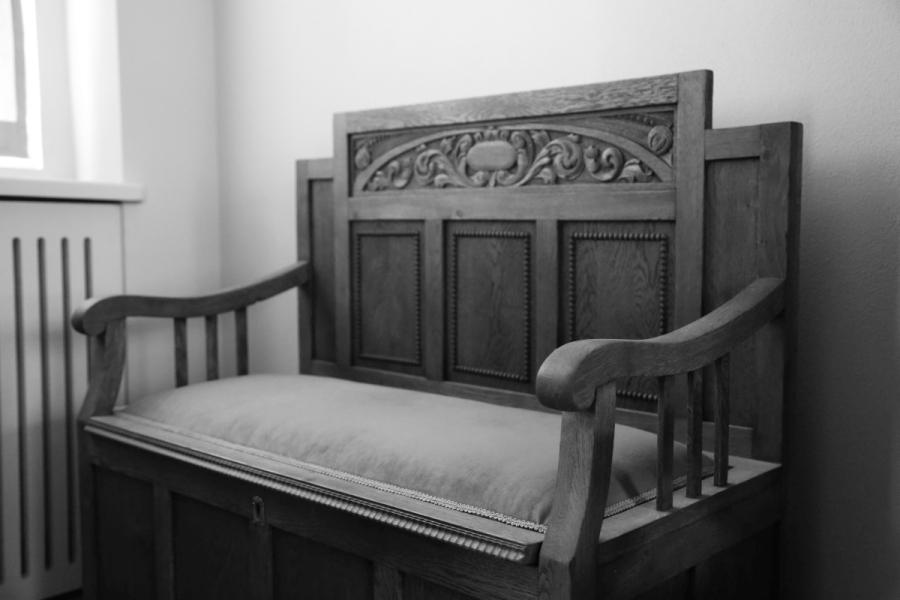 Krzesło Eliasza w małej synagodze we Wrocławiu /fot. Chidusz 2015