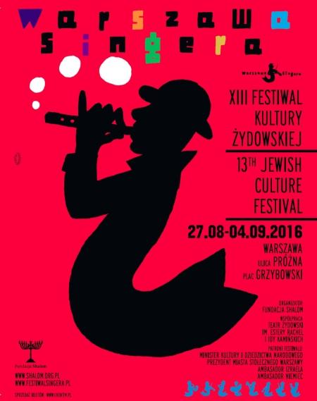 warszawa-singera-xiii-festiwal-kultury-żydowskiej-warszawa-singera-13th-jewish-culture-festival-próżna-plac-grzybowski-gołda-tencer-plakat-program