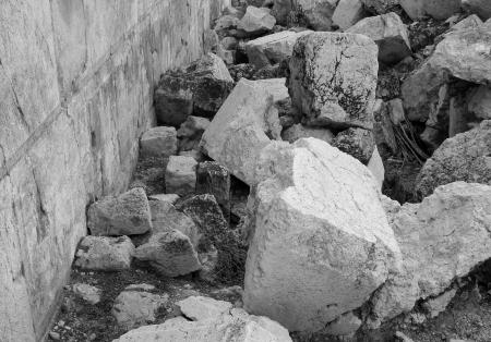 Kamienie ze zburzonej Świątyni Jerozolimskiej /fot. Wikipedia