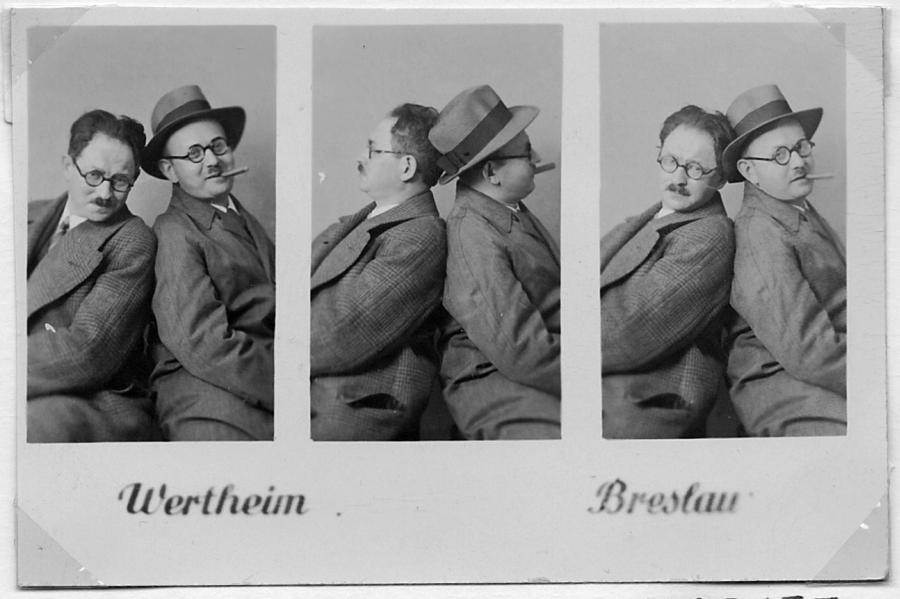 Heinrich Tischler i jego szwagier Moritz Hadda, również znany wrocławski architekt /fot. archiwum rodzinne