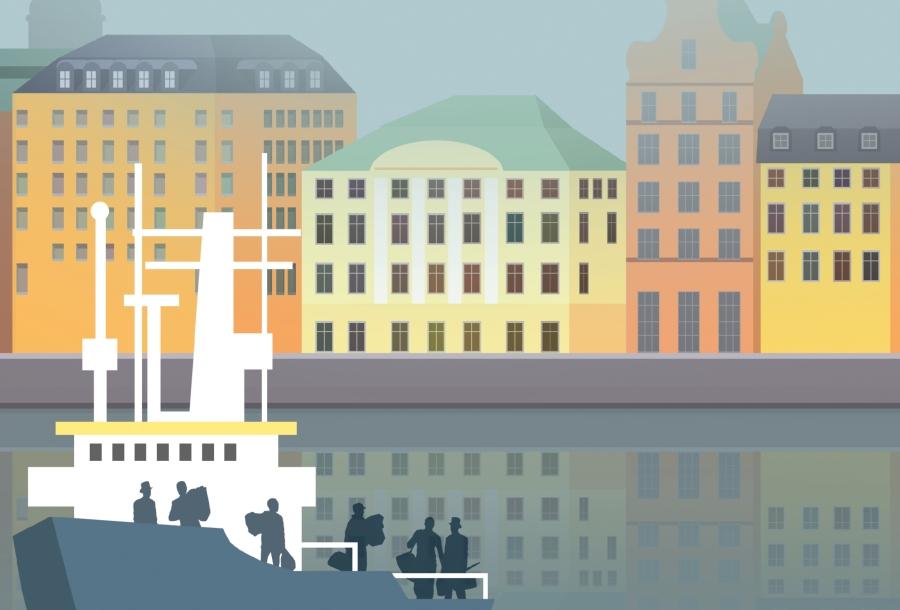 Sztokholm. Fragment okładki Edyty Marciniak /CHIDUSZ 2017
