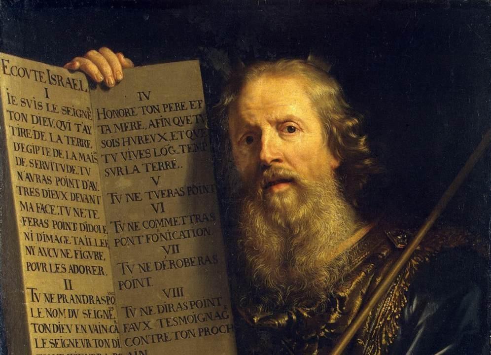 Mojżesz na obrazie autorstwa francuskiego malarza Philippe de Champainge. Fot. Wikipedia