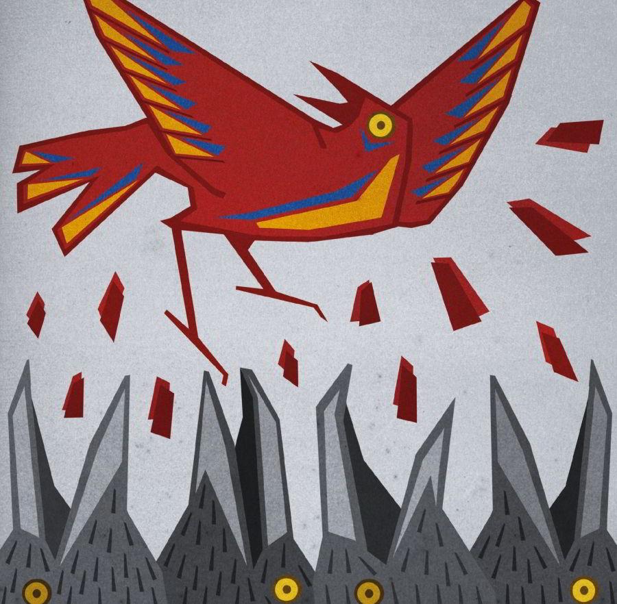 """Zadziobywany """"Malowany ptak"""" /autor Edyta Marciniak CHIDUSZ 2017"""
