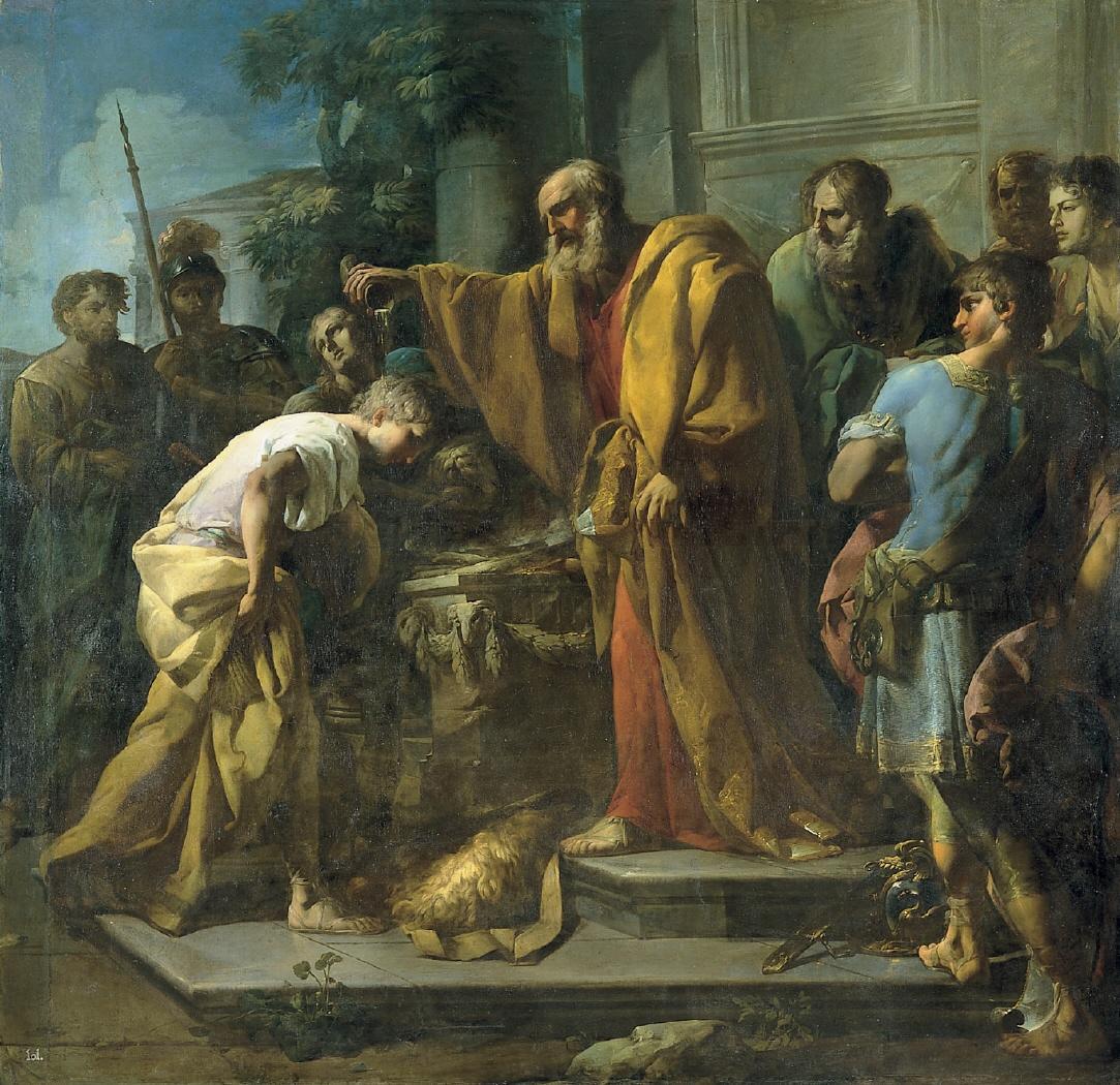 Obraz Velázqueza przedstawiający namaszczenie przez Samuela Dawida na przyszłego króla Izraela. Fot. Wikipedia