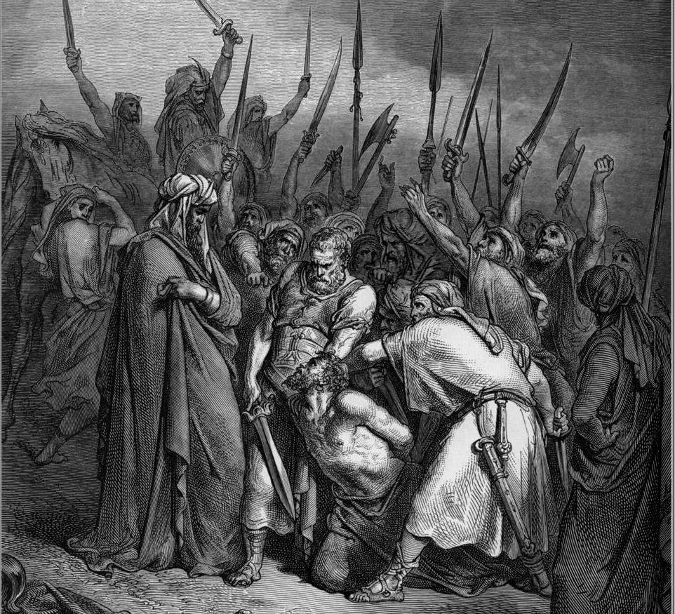 """Śmierć Agaga"" - ilustracja Paula Gustava Doré. Fot. Wikipedia"