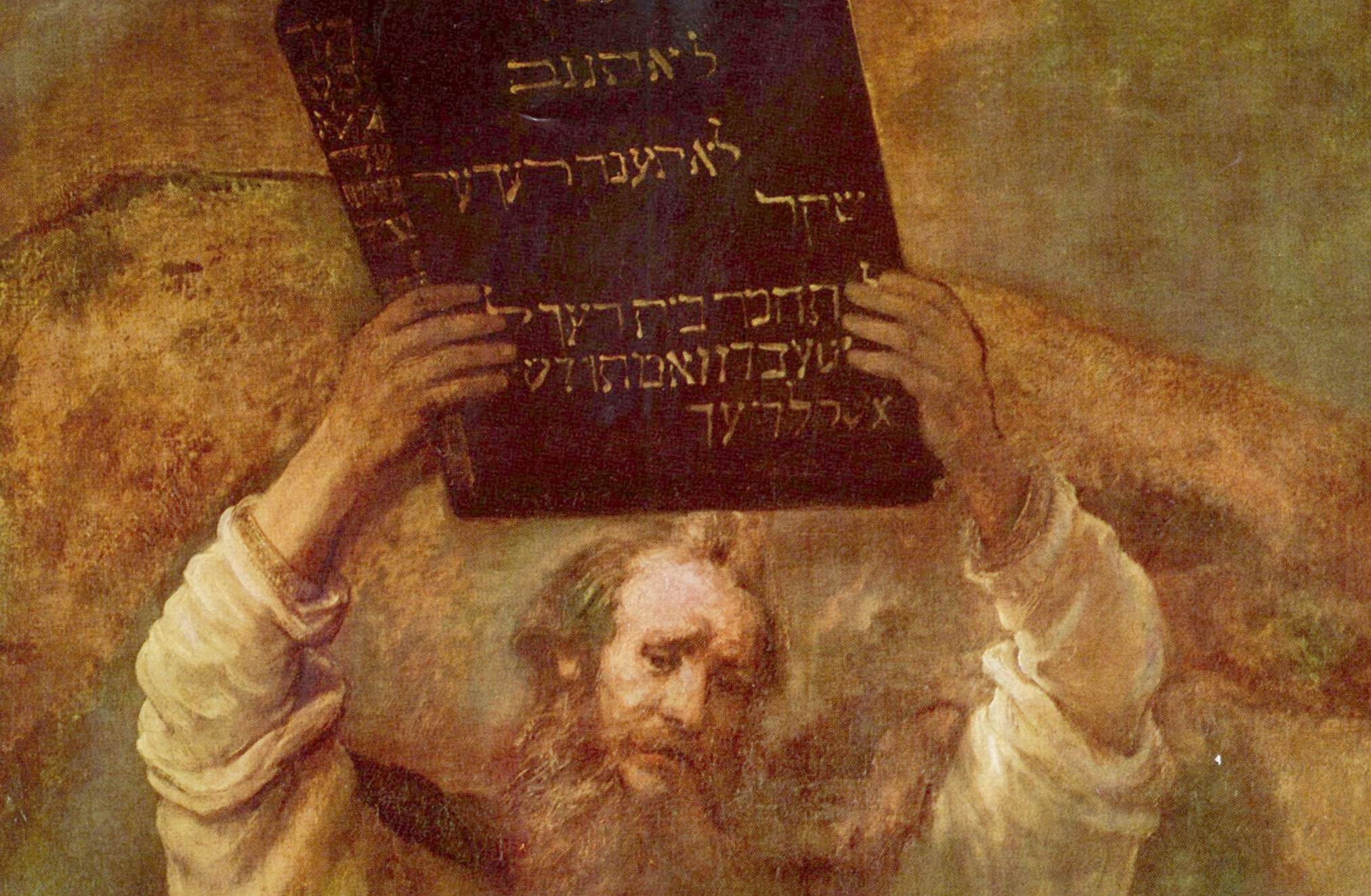"""Fragment obrazu Rembrandta """"Mojżesz z tablicami prawa"""". Fot. Wikipedia"""