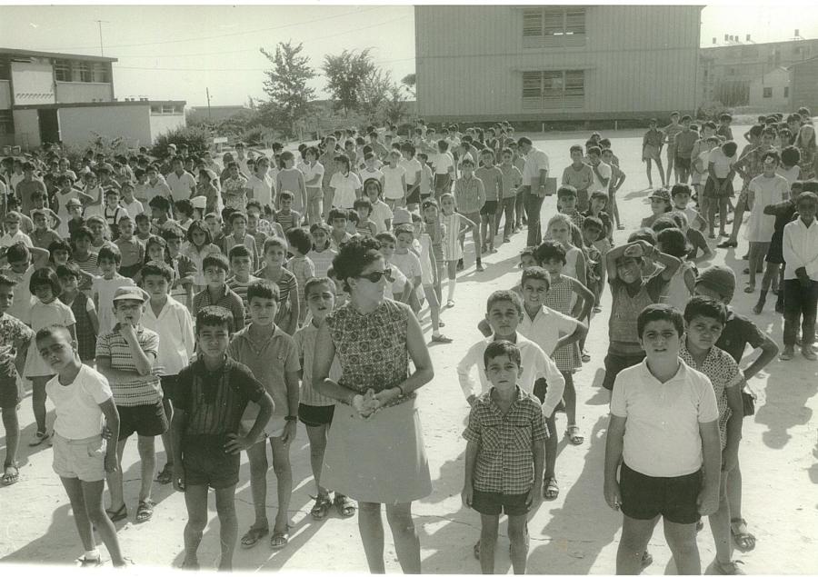 Gimnastyka poranna w Kirjat Malachi w Izraelu (1970) /fot. Wikipedia