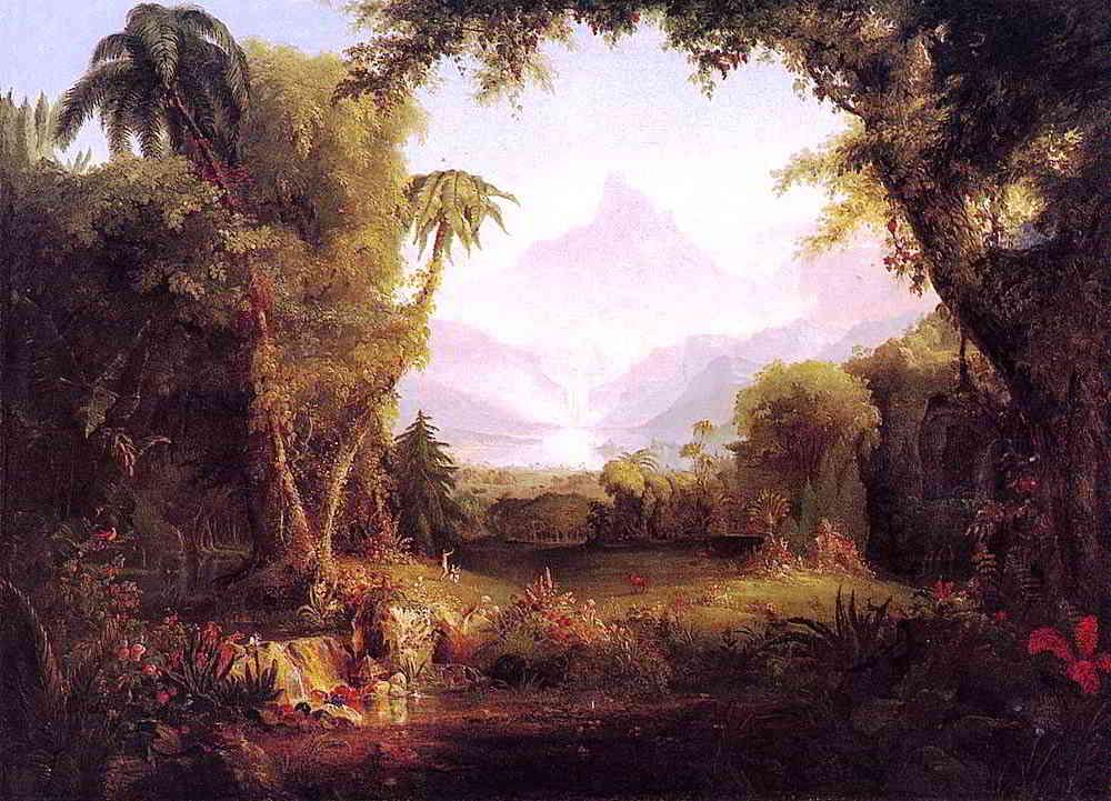 """""""Ogród Edenu"""" - obraz XIX-wiecznego malarza Thomasa Cole. Fot. Wikipedia"""