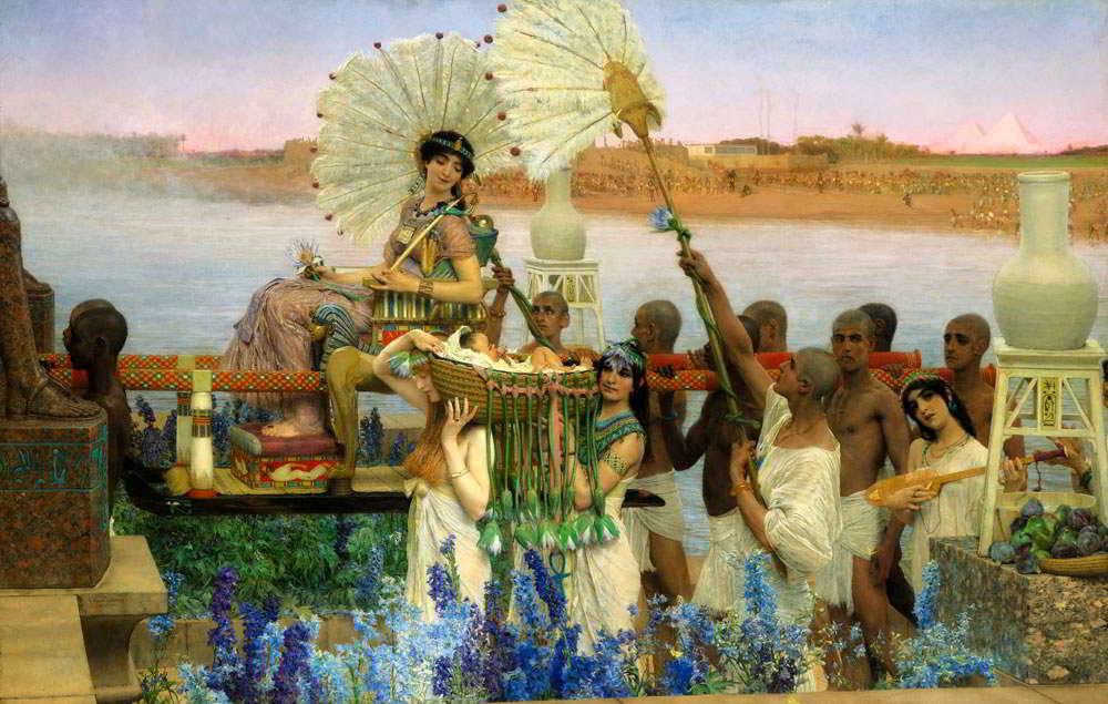 """""""Odnalezienie Mojżesza"""", obraz Lawrance Alma-Tademy z 1904 roku. Fot. Wikipedia"""