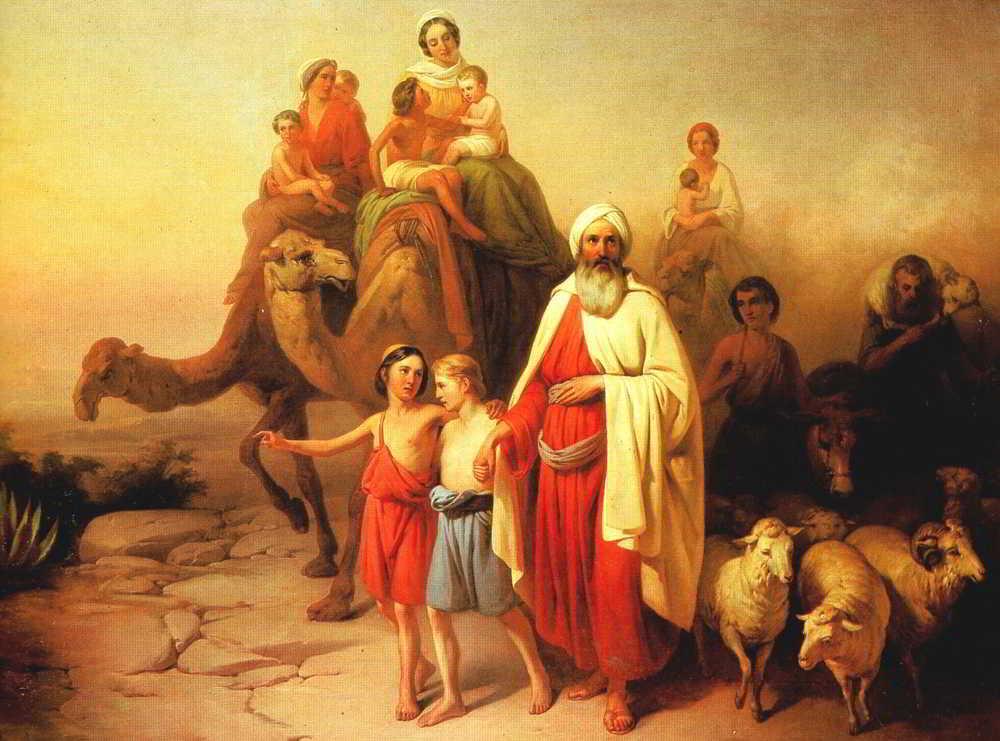 """Obraz węgierskiego malarza  Józsefa Molnára """"Podróż Abrahama z Ur do Kanaanu"""" (1850) / Fot. Wikipedia"""