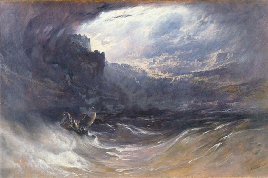 """Potop"" autorstwa angielskiego malarza Johna Martina. Fot. Wikipedia"