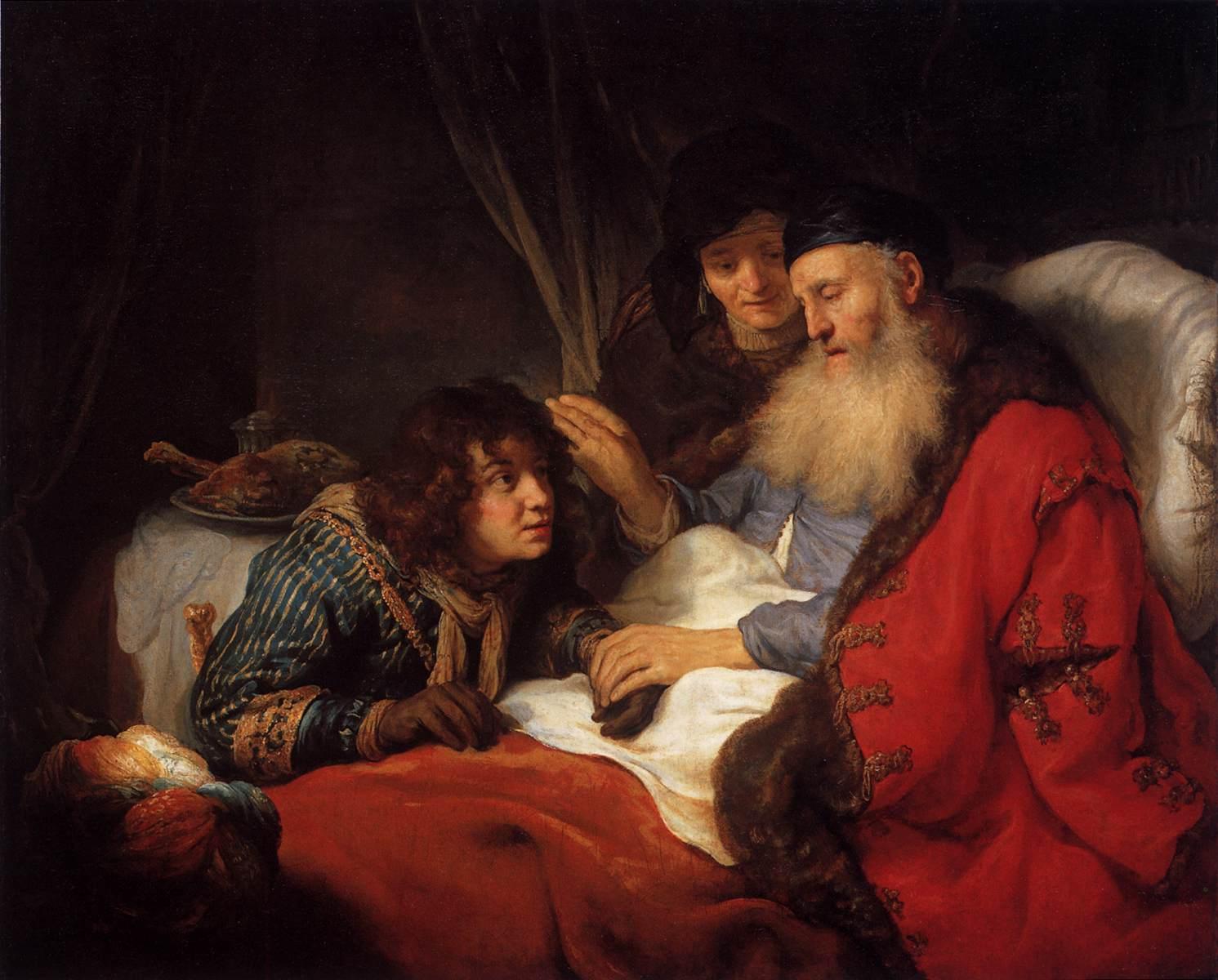 """""""Izaak błogosławi Jakuba"""" - obraz holenderskiego malarza Goverta Flincka. /fot. Wikipedia"""