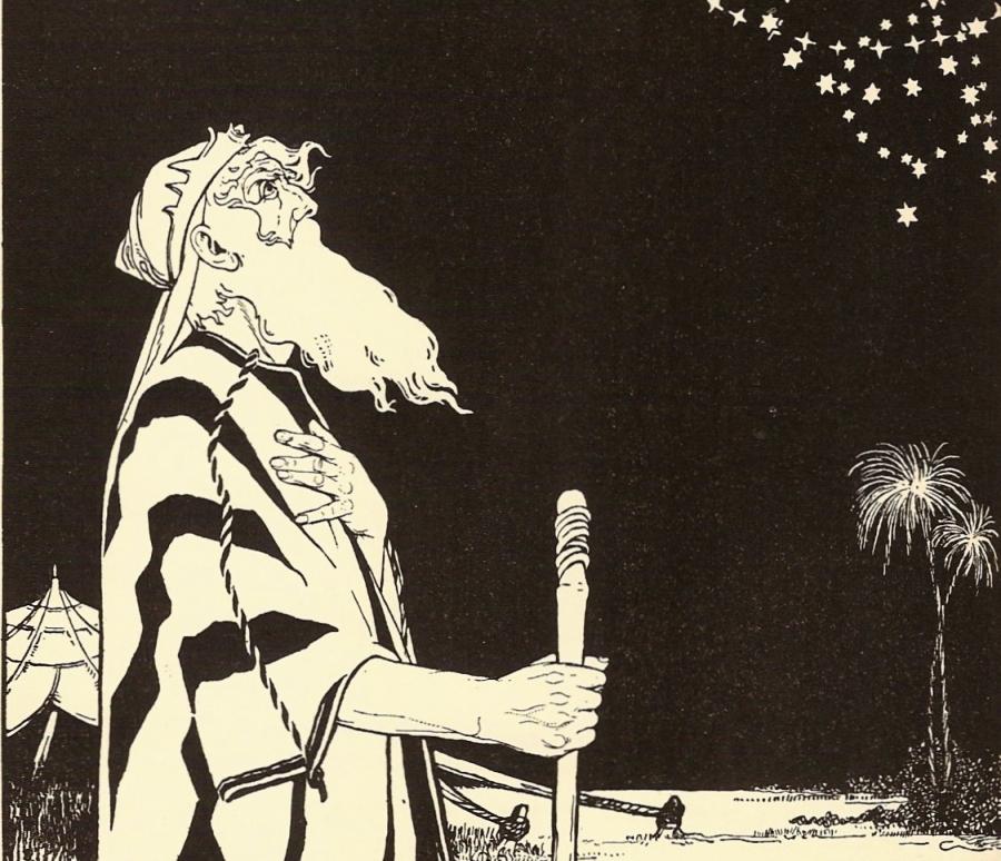 """Maurycy Lilien """"Abraham"""" (fragment ilustracji). Lilien był pierwszym polsko-żydowskim artystą, który wspierał ruch syjonistyczny. /fot. Wikipedia"""