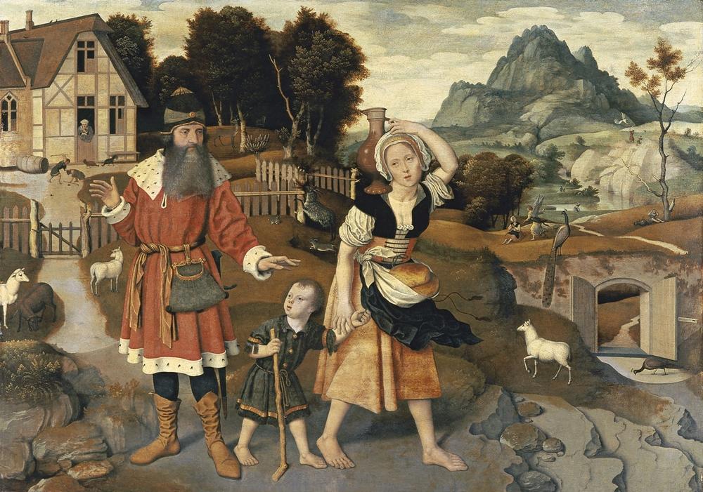 """Obraz niederlandzkiego malarza Jana Mostaerta """"Wygnanie Hagar"""" (1520-1525)/ Fot. Wikipedia"""