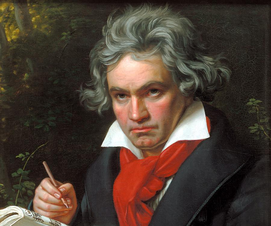 Portret Ludwiga van Beethovena pędzla Josepha Karla Stielera /Fot. Wikipedia