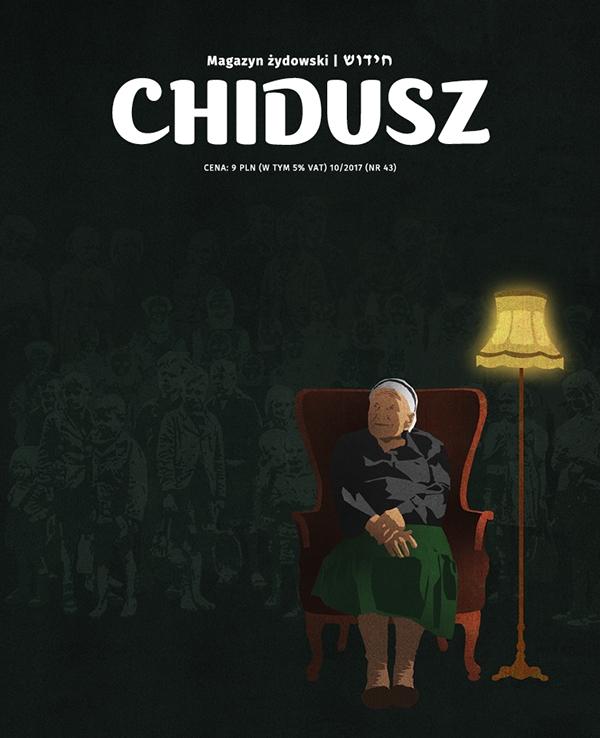 """Irena Sendlerowa na okładce """"Chiduszu"""" 10/2017 /autorka: Edyta Marciniak"""