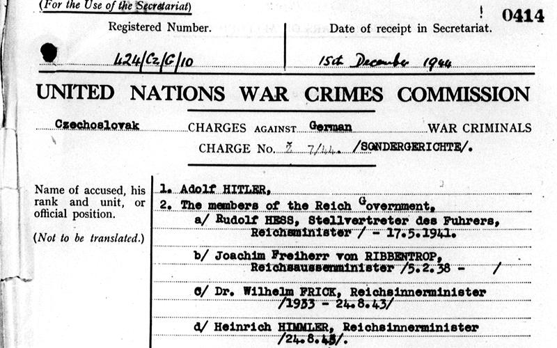 Akta Komisji Narodów Zjednoczonych do Spraw Zbrodni Wojennych /Fot. unwcc.org