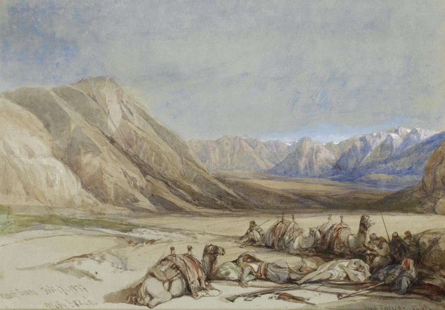 """""""Pod górą Synaj"""" - obraz szkockiego malarza orientalisty Davida Robertsa. /Fot. Wikipedia"""