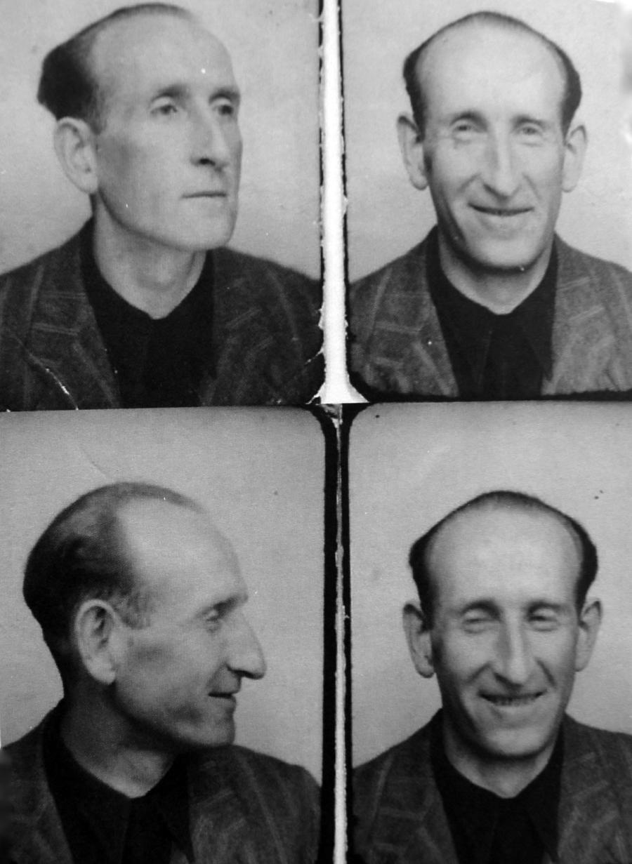 Dawid Igra, ojciec Szarony, tuż po wyzwoleniu obozu. /Fot. Archiwum rodzinne