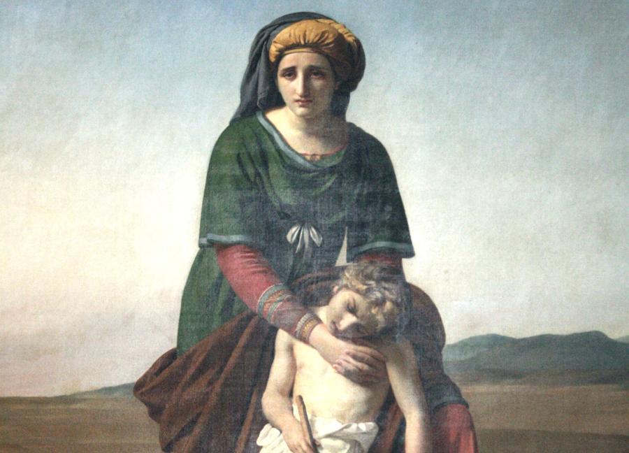 Hagar i Iszmael na obrazie belgijskiego malarza Françoisa-Josepha Naveza /Fot. Wikipedia