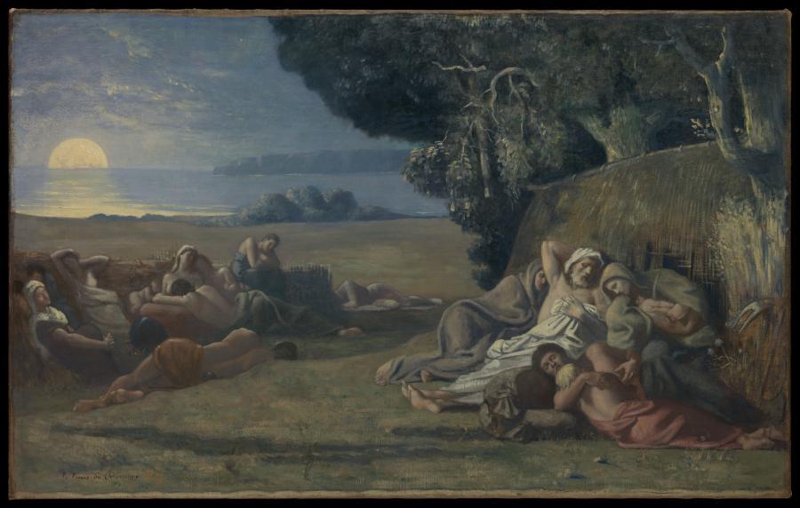 """Pierre Puvis de Chavannes, """"Sen"""". /fot. Metropolitan Museum of Art"""