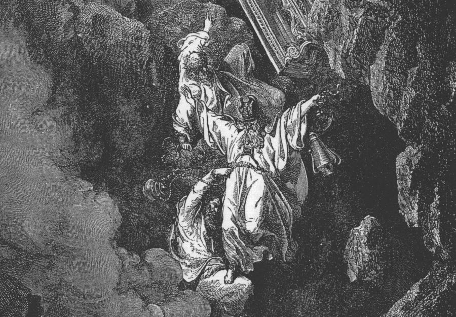 """Gustave Doré, """"Śmierć Koracha, Datana i Abirama"""" (1866) /fot. Wikipedia"""