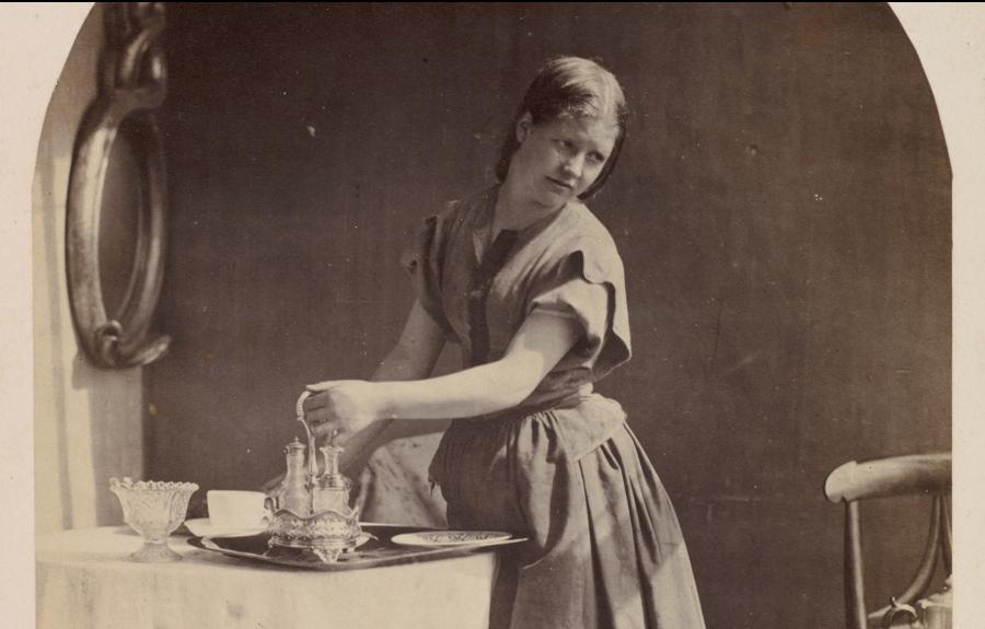 """""""Śniadanie w angielskim stylu"""", Oscar Gustav Rejlander, pionier fotografii epoki wiktoriańskiej (ok. 1860 r.) /fot. The MET"""