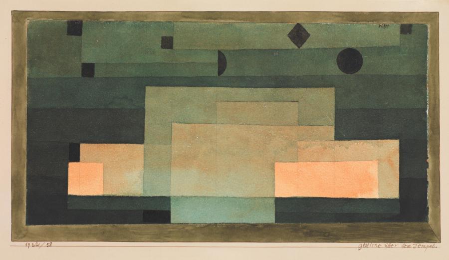 """Firmament nad Świątynią"", obraz Paula Klee (1922). /fot. The MET"