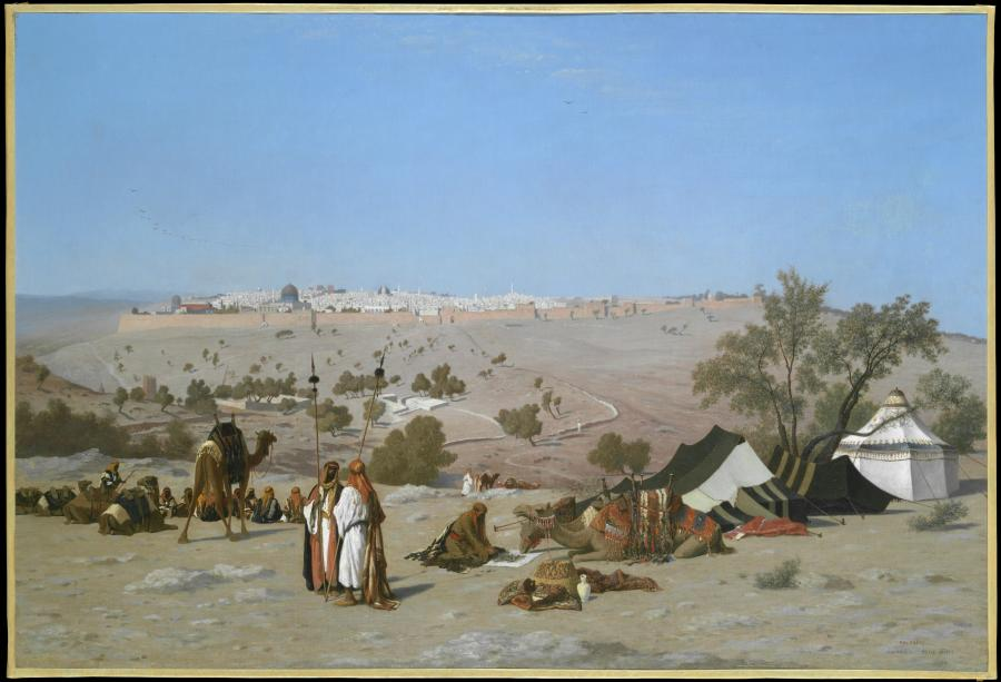 Jerozolima z Góry Oliwnej. Obraz Charlesa-Théodora Frère, 1880 r. /fot. The Metropolitan Museum of Art