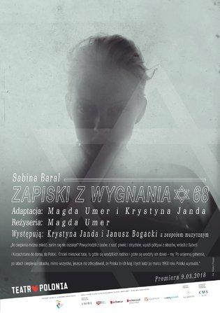 sabina-baral-zapiski-z-wygnania-krystyna-janda-magda-umer-teatr-polonia-spektakl-marzec-1968-chidusz-magazyn