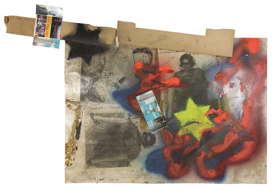 bez tytułu, 1981, technika mieszana, 61 × 90,2 cm, courtesy Boris Lurie Art Foundation