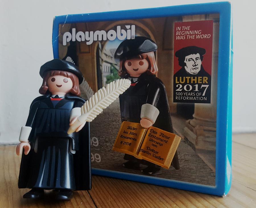Marcin Luter w zestawie Playmobil z okazji 500. rocznicy reformacji /fot. Chidusz