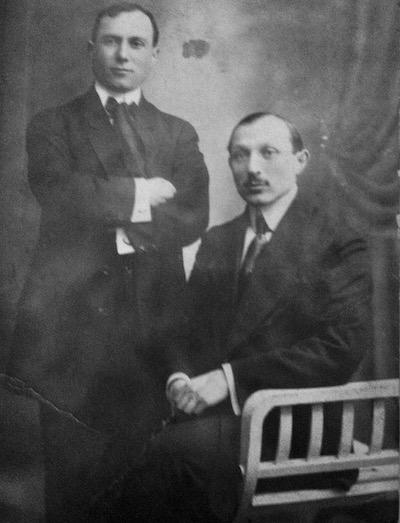 Nachum Sternheim z bratem / Fot. Archiwum rodzinne