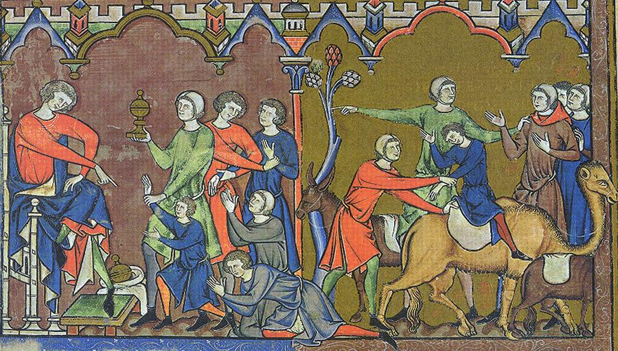Benjamin na ilustracji z Biblii Maciejowskiego /fot. Wikipedia