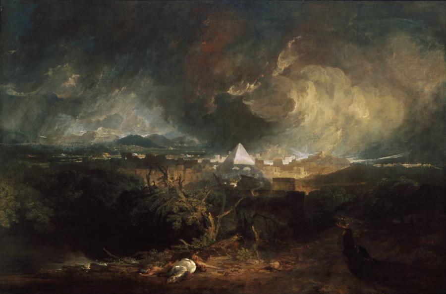 """""""Piąta plaga egipska"""", J. M. W. Turner"""