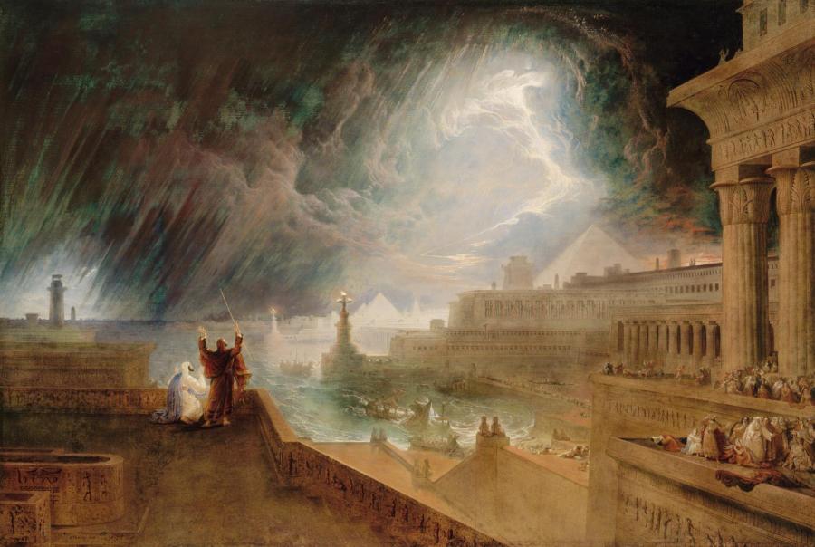 """""""Siódma plaga"""", John Martin, 1823 r. /źródło: Wikipedia"""