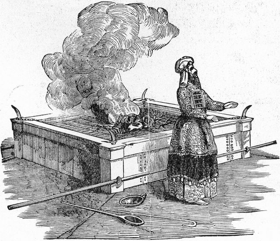 Arcykapłan składający ofiarę, Henry Davenport Northrop/ Wikipedia