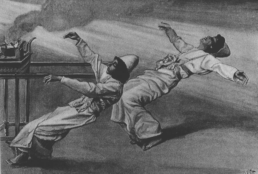 """James Tissot, """"Dwóch kapłanów ginie""""/ Wikipedia"""