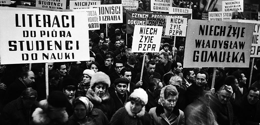 teresa-bogucka-marzec-1968-strajk-studenci-gomulka-moczar-antysemityzm-nagonka-dworzec-gdanski