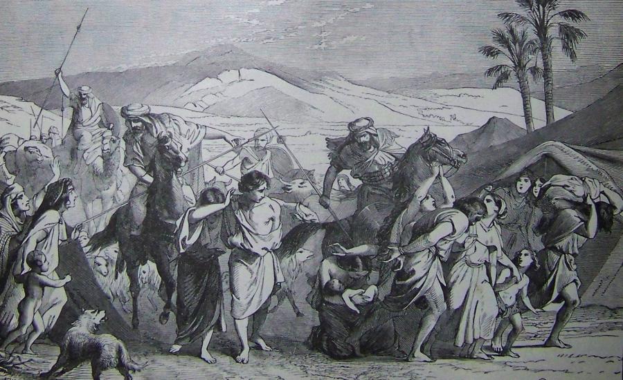 Izraelici wzięci do niewoli, ilustracja z Biblii Holmana/ Wikipedia