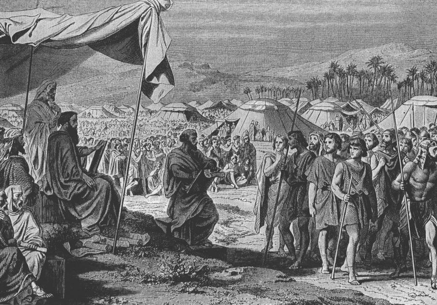 """Liczenie Izraelitów"", H. F. E. Philippoteaux/ Wikipedia"
